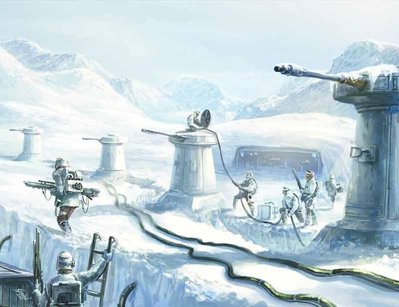 L'Alliance bâtissant la Base Echo sur un ancien repaire pirate