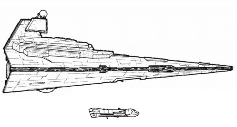Comparaison des gabarits d'un croiseur Carrack et d'un destroyer.