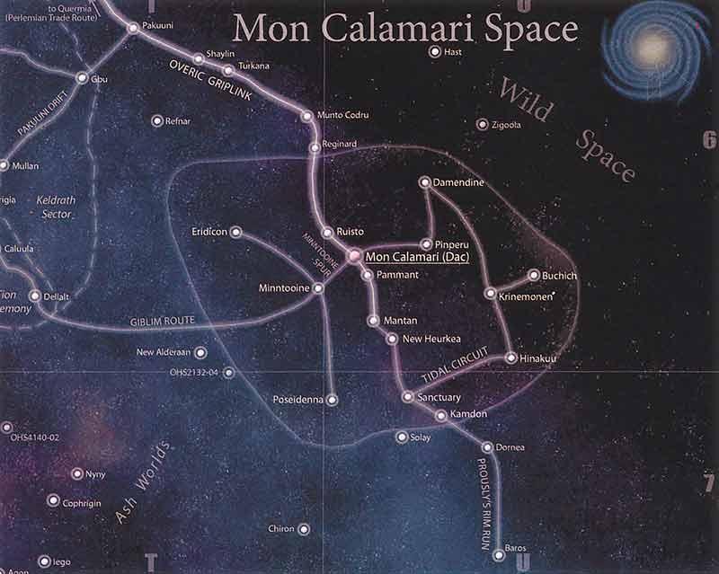 Carte de l'espace Mon calamari