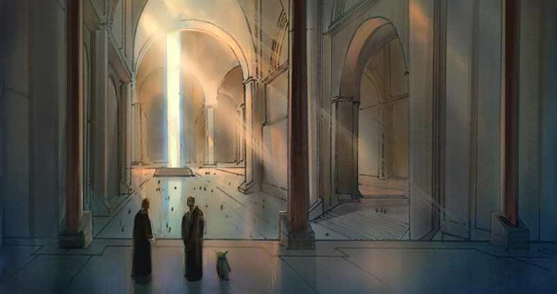 Les grands halls du Temple sont toujours aussi impressionnants à contempler