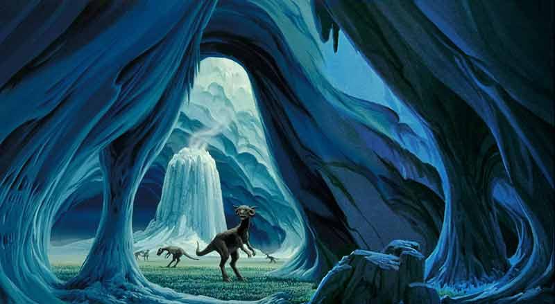 les grottes herbeuses et isolées des tempêtes offrent un confort idéal à de nombreux mammifères