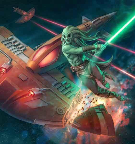 Le général Jedi Kit Fisto et les troupes de la République