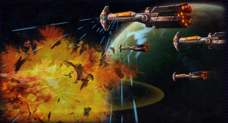 destruction d'une flotte impériale lors de la Première Bataille de Bothawui