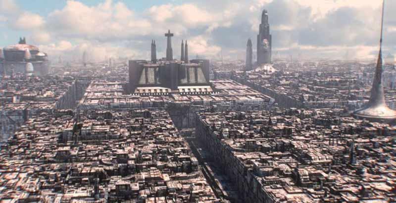 Les quartiers entourent le Temple Jedi