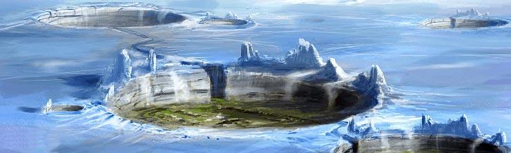 la surface de la planète Belsavis