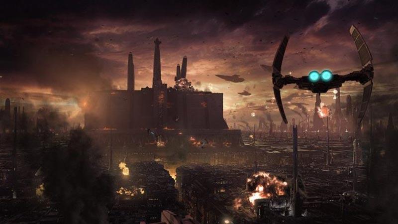 Le Sac de Coruscant, durant lequel le Temple Jedi fut en grande partie détruit