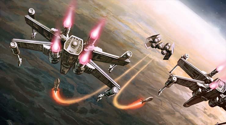 Redline, à bord de son interdicteur TIE, fait face à deux X-Wings