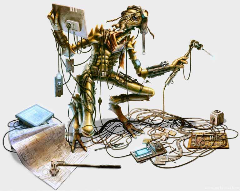 Un Verpine technicien au travail